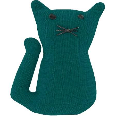 Petite barrette chat  vert émeraude