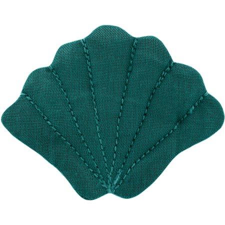 Barrette coquillage  vert émeraude