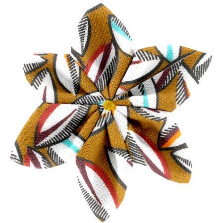 Barrette fleur étoile 4 cabosses
