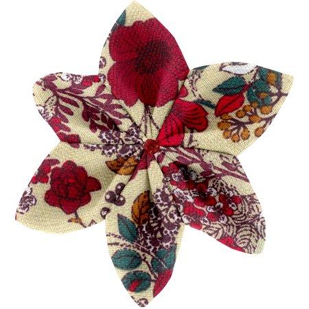 Barrette fleur étoile 4 coquelicot