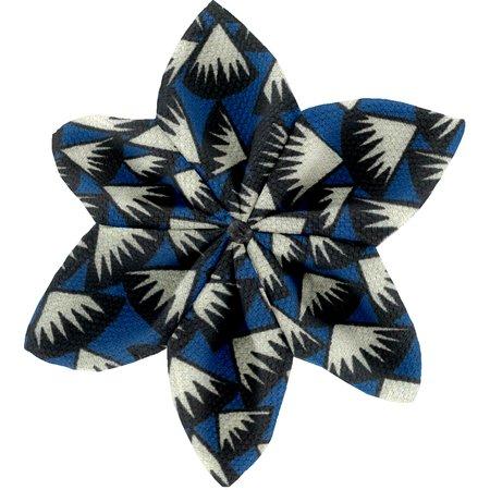 Barrette fleur étoile 4  eclats bleu nuit
