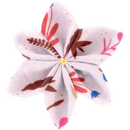 Star flower 4 hairslide herbier rose