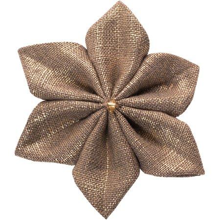Star flower 4 hairslide copper linen