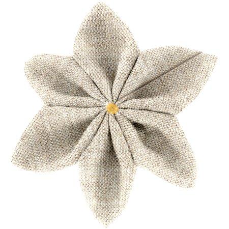 Barrette fleur étoile 4  lin pailleté