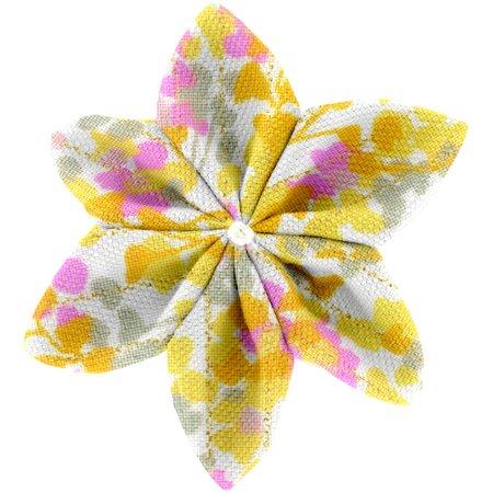Pasador flor estrella mimosa jaune rose
