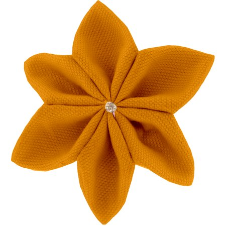 Barrette fleur étoile 4 ochre