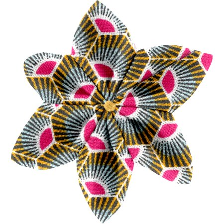 Star flower 4 hairslide palmette
