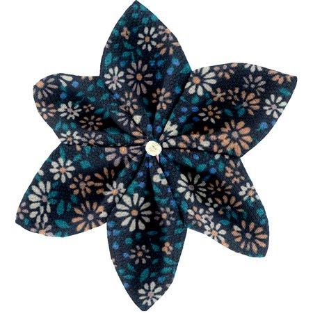 Star flower 4 hairslide paquerette marine