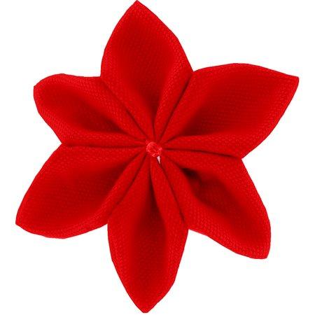 Pasador flor estrella rojo mandarina