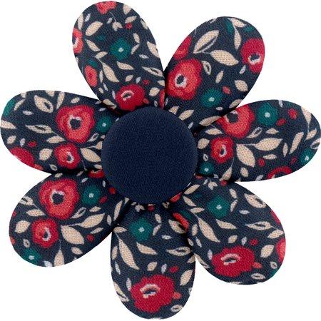 Barrette fleur marguerite camelias rubis