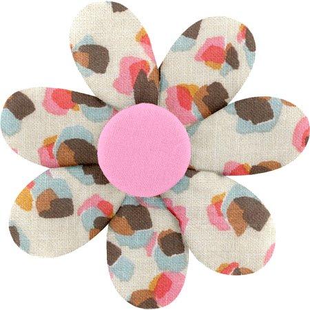 Fabrics flower hair clip confetti aqua