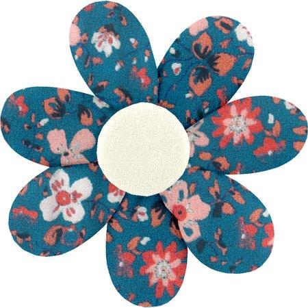 Fabrics flower hair clip fleuri nude ardoise