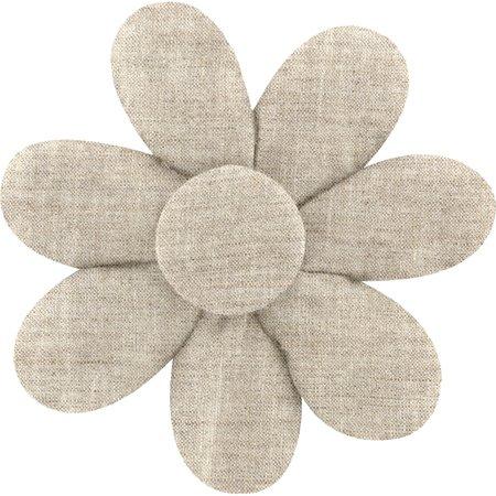 Fabrics flower hair clip  glitter linen