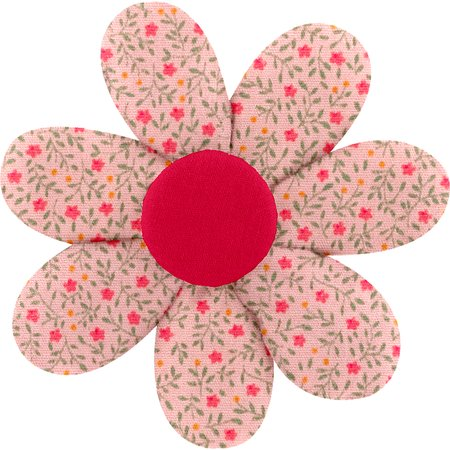 Fabrics flower hair clip mini pink flower