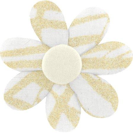 Barrette fleur marguerite ramage or