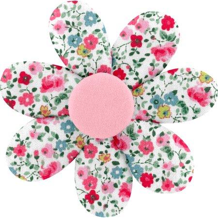 Barrette fleur marguerite  roseraie