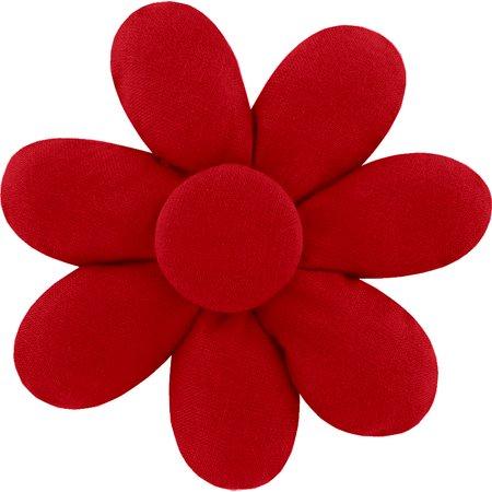 Barrette fleur marguerite rouge