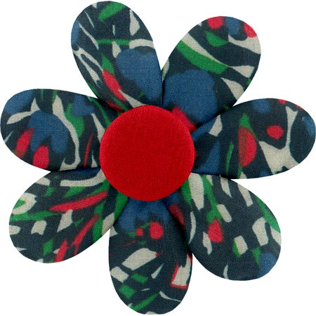 Fabrics flower hair clip  tulipes