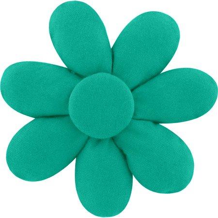 Fabrics flower hair clip green laurel