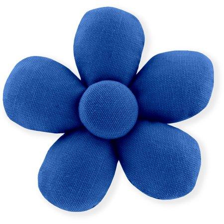 Mini flower hair slide navy blue