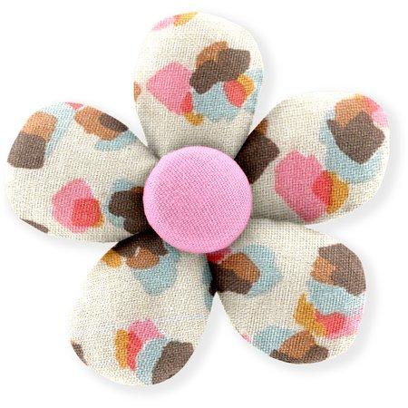 Petite barrette mini-fleur confetti aqua