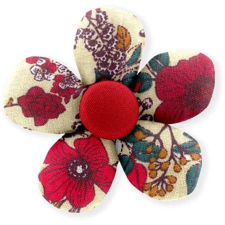 Pasador mini flor amapola