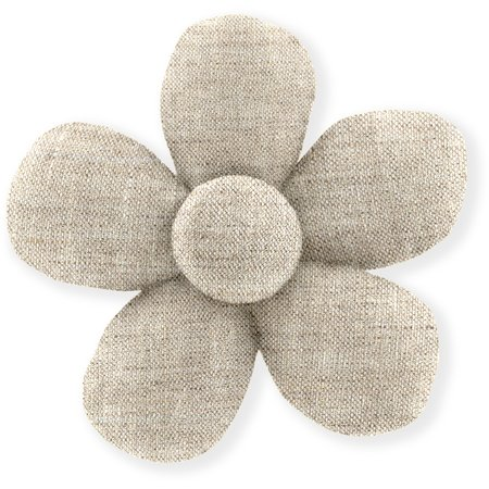 Mini flower hair slide  glitter linen