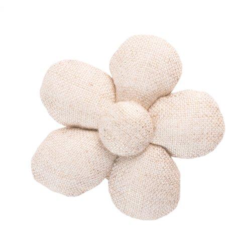 Petite barrette mini-fleur  lin pailleté