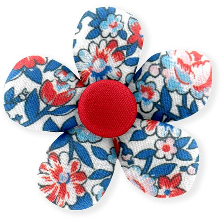 Petite barrette mini-fleur london fleuri