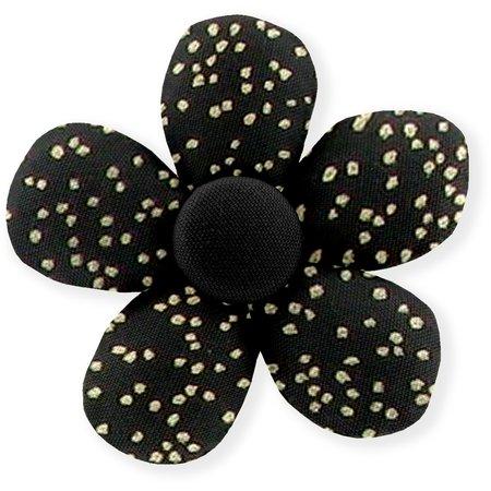 Pasador mini flor noir pailleté
