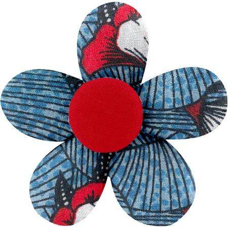 Petite barrette mini-fleur  nuit fleurie