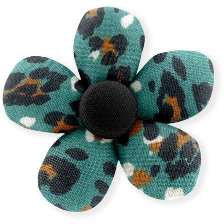 Pasador mini flor pantera de jade