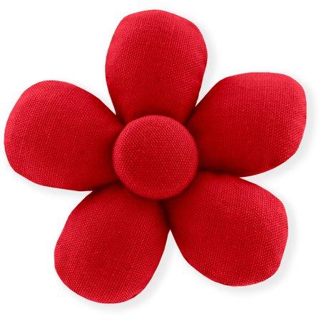 Mini flower hair slide tangerine red