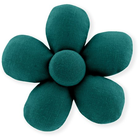 Pasador mini flor verde esmeralda