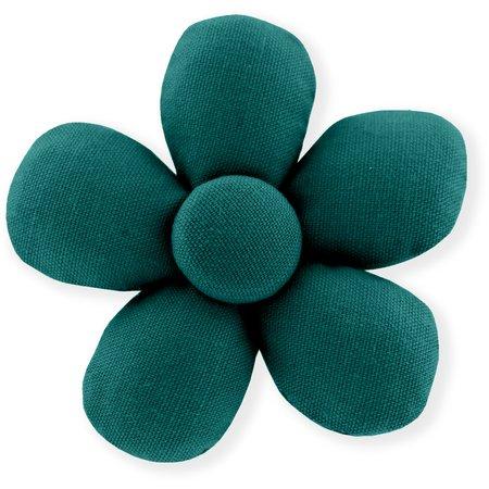 Petite barrette mini-fleur  vert émeraude