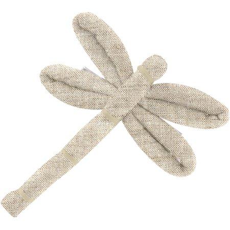 Barrette libellule  lin pailleté