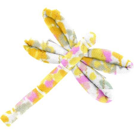 Pasador Libélula mimosa jaune rose