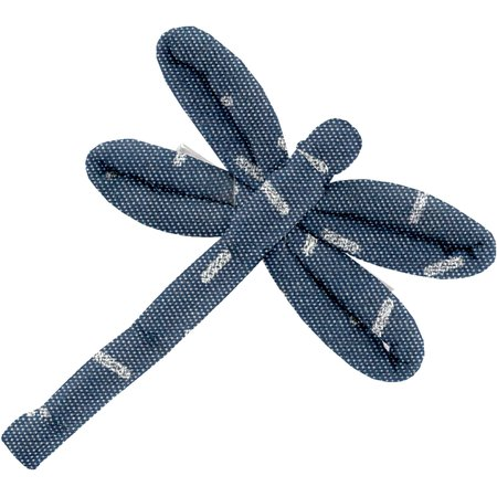 Dragonfly hair slide silver straw jeans