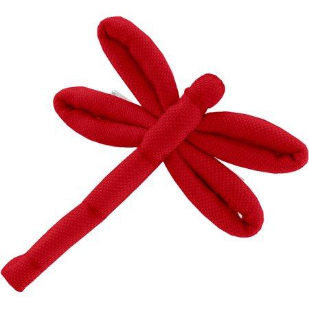 Barrette libellule rouge