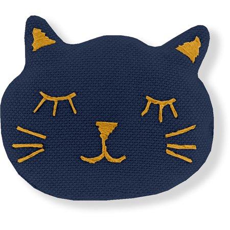 Meow hair slide navy blue