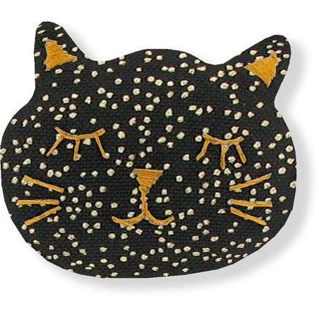 Meow hair slide noir pailleté