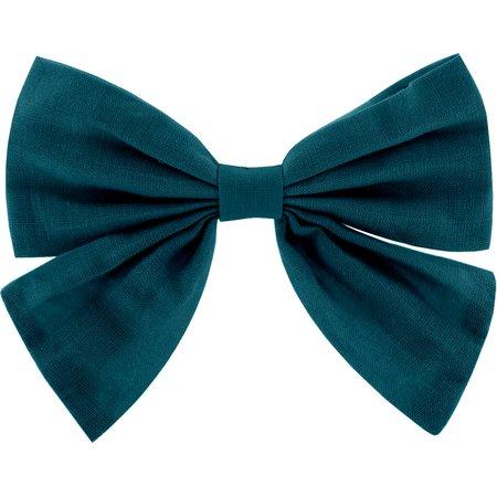 Bow tie hair slide bleu vert