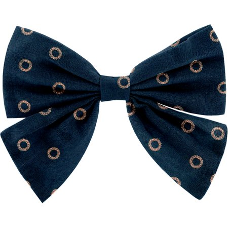 Bow tie hair slide bulle bronze marine