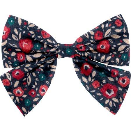Bow tie hair slide camelias rubis