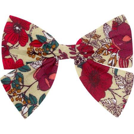 Bow tie hair slide poppy
