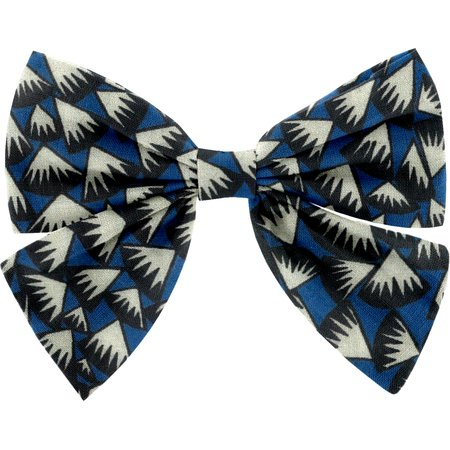 Bow tie hair slide parts blue night