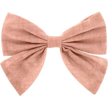 Pasador lazo mariposa gasa de algodón rosa
