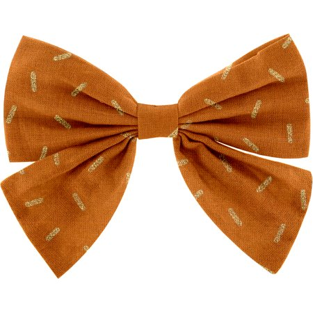 Bow tie hair slide caramel golden straw