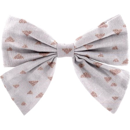 Bow tie hair slide triangle cuivré gris