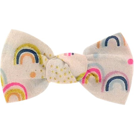 Small bow hair slide rainbow